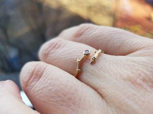 кольцо ветка с почками